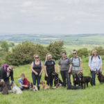 Our group of dog trainers on the Dog Training Weekend